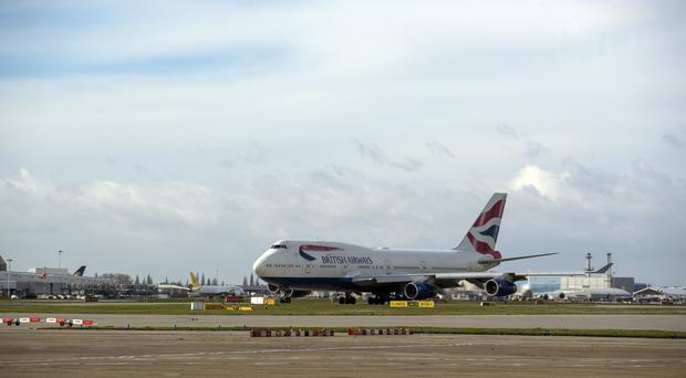 The British Airways flight from London's Heathrow landed at Valencia in Spain (Steve Parsons/PA)