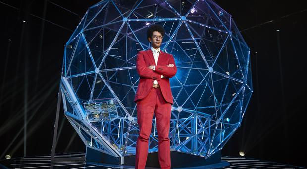 Undated handout photo issued by Channel 4 of presenter Richard Ayoade in The Crystal Maze, which is returning to screens for a new series.