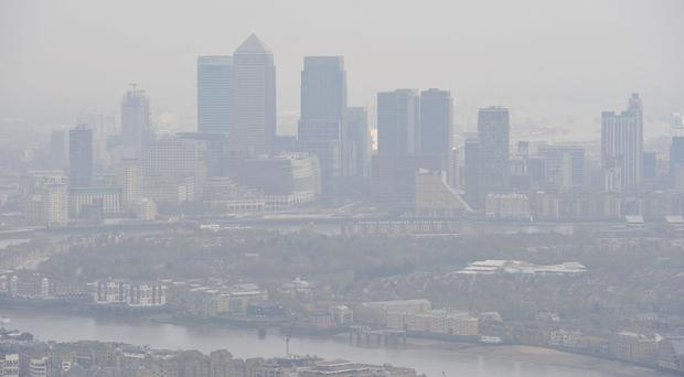 Air pollution over London (Nick Ansell/PA)