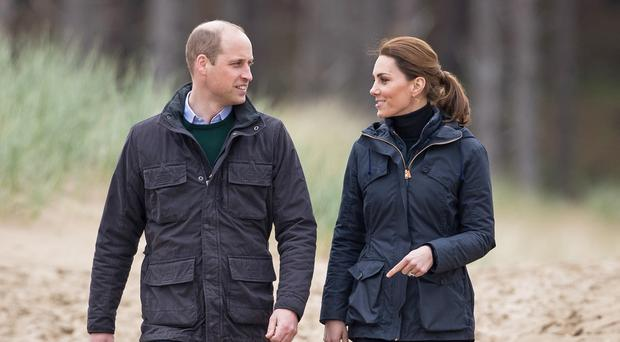 The Duke and Duchess of Cambridge (Aaron Chown/PA)