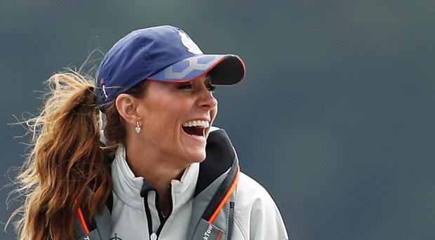 The Duchess of Cambridge takes part in the King's Cup regatta (Peter Nicholls/PA)