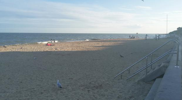 Clacton beach in Essex, where a 14-year-old girl has died (Caitlin Doherty/PA)