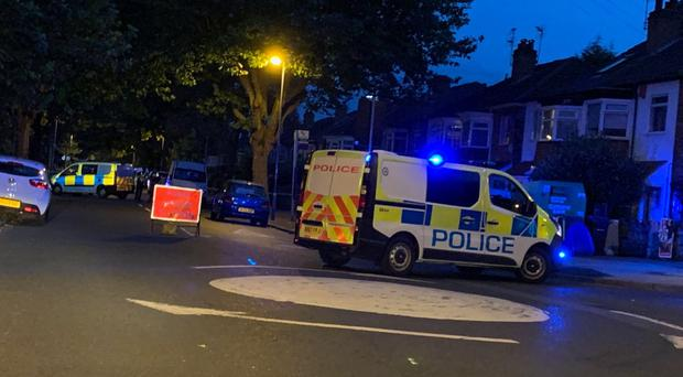 Goosemoor Lane was cordoned off following the shooting (Desmond Jaddoo/PA)