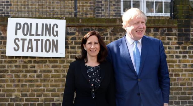 Boris Johnson and his now estranged wife Marina Wheeler at a polling station in Islington in May 2016 (Stefan Rousseau/PA)