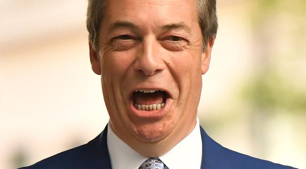 Brexit Party leader Nigel Farage (Dominic Lipinski/PA)
