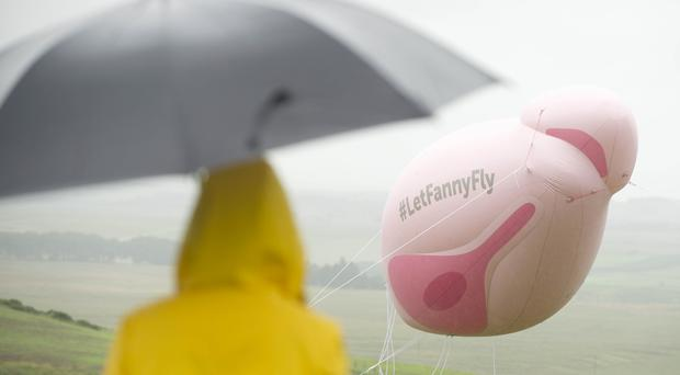The inflatable is currently in a field outside Edinburgh (Sandy Young/PA)