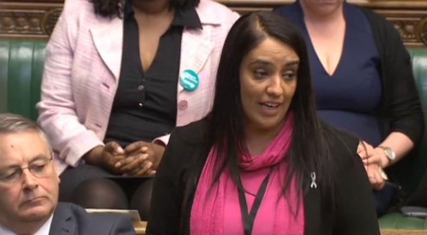 Naz Shah contacted West Yorkshire Police, who traced the emails to Stewart Hanson (PA)