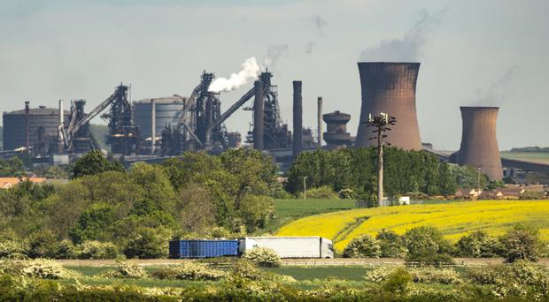 The steelworks plant in Scunthorpe. The Official Receiver is in exclusive talks with Oyak over a sale of the business (PA)