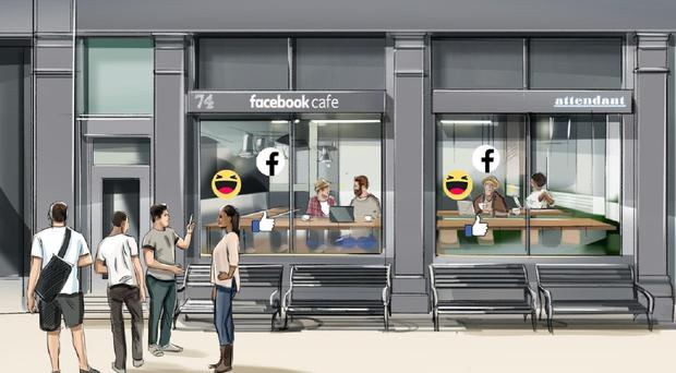 The cafes will encourage users to examine their privacy settings in exchange for a free drink (Facebook)