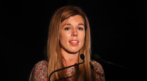 PM's partner Carrie Symonds makes first speech since No 10 move