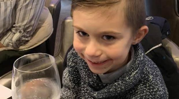 Lucas Dobson, six, has been missing since he slipped into the River Stour in Sandwich, Kent, on Saturday (Family handout/PA)