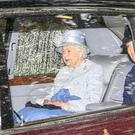The Queen arrives for Sunday service at Crathie Kirk (John Linton/PA)