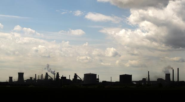 The steelworks plant in Scunthorpe (Danny Lawson/PA)