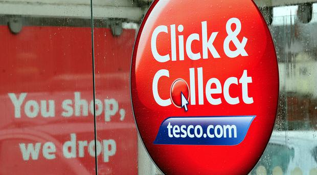 Shoppers now use click and collect around twice a month (Rui Vieira/PA)