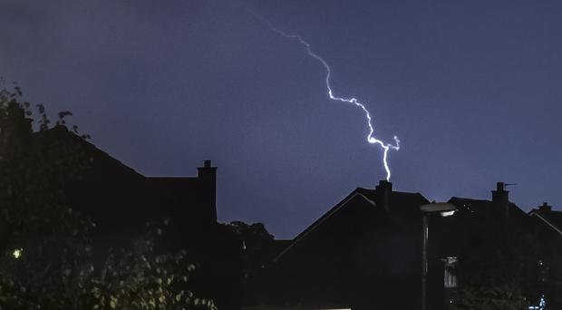 The lightning strike led to 'extremely rare' consequences for thousands of customers (Danny Lawson/PA)