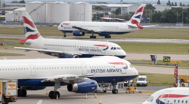 """The boss of British Airways' parent company has launched a bitter attack on Heathrow, slamming the airport for """"making passengers stump up more than £3bn"""" towards its third runway plans (Steve Parsons/PA)"""