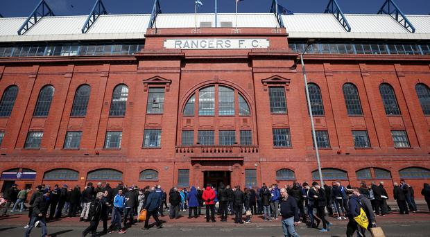 Rangers have been ordered to close a section of Ibrox for their return clash with Legia Warsaw (Jane Barlow/PA)