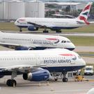 British Airways aircraft at Heathrow airport (The British Airline Pilots' Association (Balpa) said its members will walk out on September 9, 10 and 27/PA)