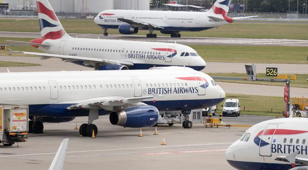 British Airways pilots have said they will strike across three days in September (PA)