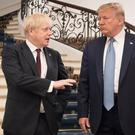 Boris Johnson meeting US President Donald Trump (Stefan Rousseau/PA)