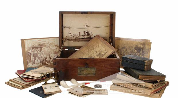 The ditty box which belonged to Royal Navy Seaman Frederick Allen (Gardiner Houlgate/PA)