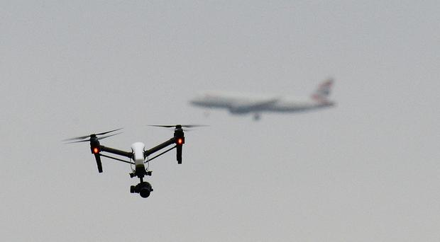 A near-miss between an airliner approaching Gatwick Airport and a drone happened on April 28 (Gareth Fuller/PA)