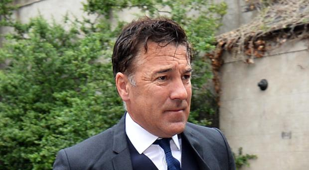 Ex-Premier League footballer Dean Saunders arrives at Chester Magistrates' Court (Peter Powell/PA)