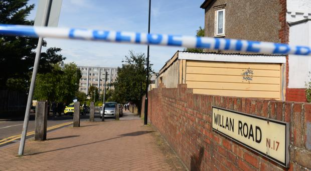 A police cordon in place in Willan Road (Kirsty O'Connor/PA)