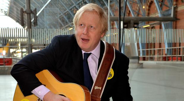 Boris Johnson harboured ambitions to be a rock star (John Stillwell/PA)