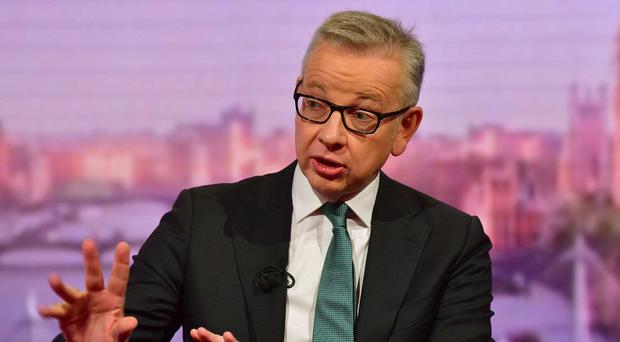 Chancellor of the Duchy of Lancaster Michael Gove (Jeff Overs/BBC/PA)