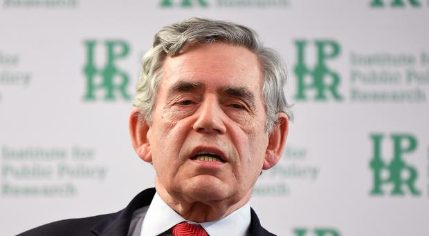 Former Labour prime minister Gordon Brown (Victoria Jones/PA)