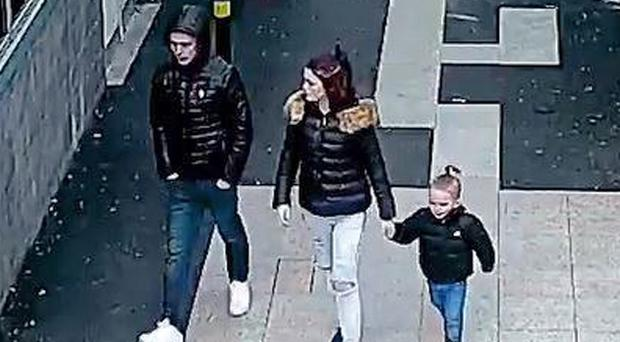 CCTV image showing Stephen Waterson and Adrian Hoare with Alfie Lamb (Metropolitan Police/PA)