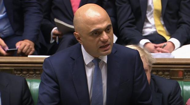 Chancellor of the Exchequer, Sajid Javid, confirmed the detail of the spending round to MPs on Wednesday (PA)