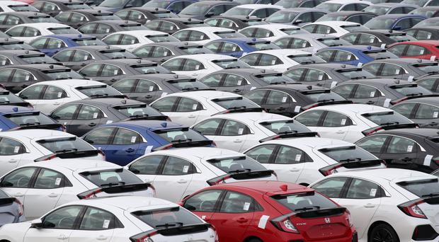 The new car market fell 1.6% last month (Andrew Matthews/PA)