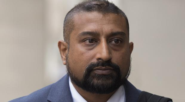 PC Avi Maharaj, who has been jailed for 12 months at Southwark Crown Court (Kirsty O'Connor/PA)