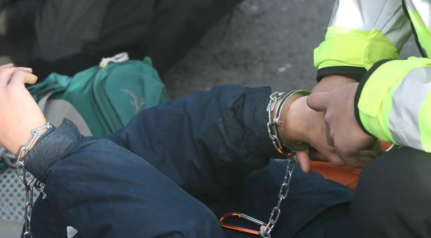 The number of far-right suspects being detained has increased (Steve Parsons/PA)