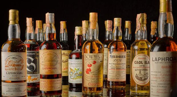 Some of the whiskies from the collection up for auction (Sotheby's/PA)