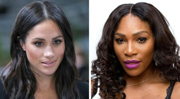 The Duchess of Sussex and Serena Williams (PA)