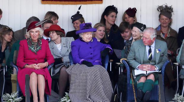 The Queen joined the Prince of Wales and Duchess of Cornwall at the event (Andrew Milligan/PA)