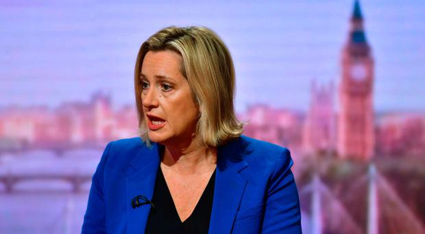 Amber Rudd on The Andrew Marr Show yesterday
