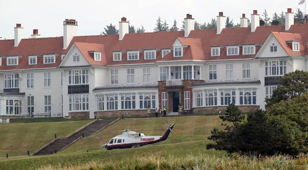 US Air Force crew have stayed at the Trump Turnberry resort in South Ayrshire (Jane Barlow/PA)