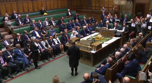 MPs stage a protest in the House of Commons before prorogation of Parliament (Parliament TV/PA)