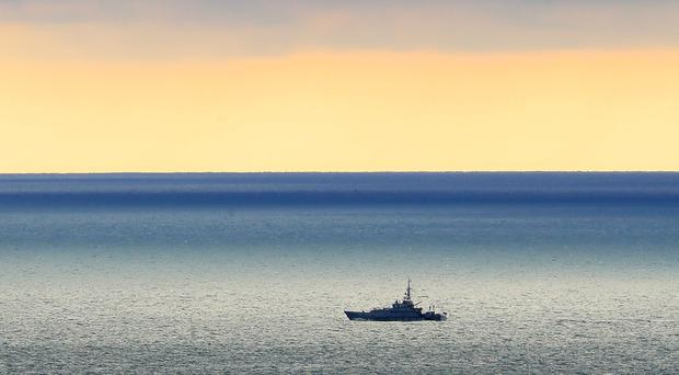 A Border Force cutter on patrol in the Channel near Dover (Gareth Fuller/PA)