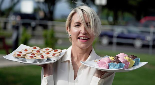 Heather Mills at her Valley vegan factory in Seaton Delaval, Northumberland, which will produce plant based food and products for vegans (Owen Humphreys/PA)
