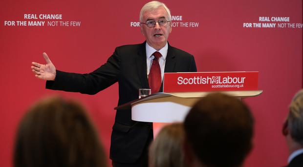 John McDonnell said the alternatives to Labour in government were 'pretty bleak'. (Andrew Milligan/PA Wire)