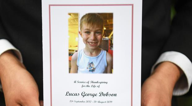 The order of service for the funeral of Lucas Dobson (Kirsty O'Connor/PA)