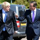 David Cameron (right) when he was Prime Minister with Boris Johnson