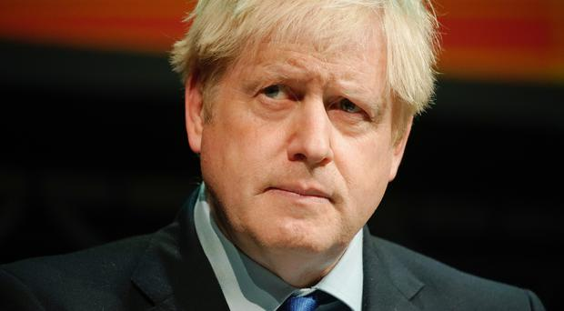 Prime Minister Boris Johnson makes a speech at the Convention of the North at the Magna Centre in Rotherham.