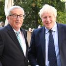 Prime Minister Boris Johnson's visit to Luxembourg makes headlines (Stefan Rousseau/PA)