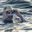 American swimmer Sarah Thomas in the English Channel (Jon Washer/PA)
